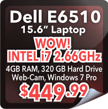 "Dell E6510 15.6"" Laptop - $449.99"